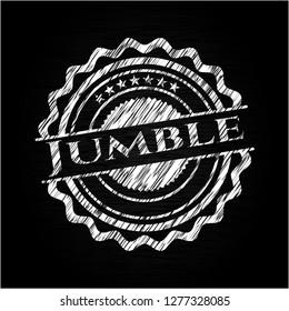 Jumble chalkboard emblem