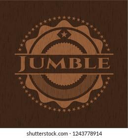 Jumble retro wooden emblem