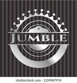 Jumble silver badge or emblem