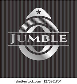 Jumble silver shiny badge
