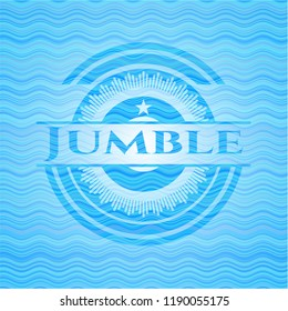 Jumble water wave representation emblem.