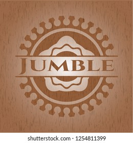 Jumble wooden signboards