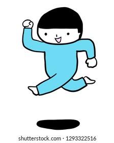 jump cute boy