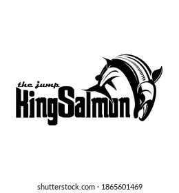 jump king salmon, nice for use logo, apparel part, etc