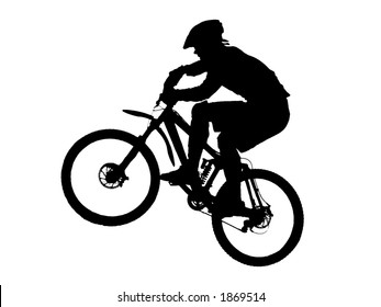 jump with a mountain bike (vector)