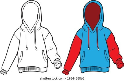jumper line vector illustration isolated on white background.jumper drawing