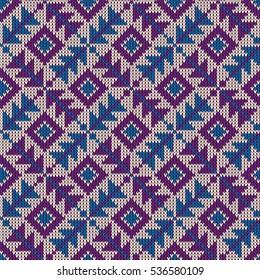 Jumper pattern vector. Jumper pattern background. Knitting pattern vector background seamless.