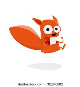 jumping cartoon squirrel