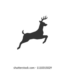 Jumping deer icon vector images