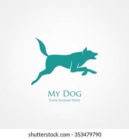 jumping dog, vector illustration