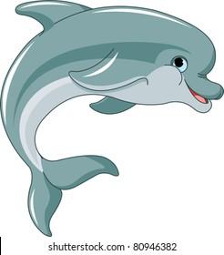 Dolphin Cartoon Images Stock Photos Vectors Shutterstock