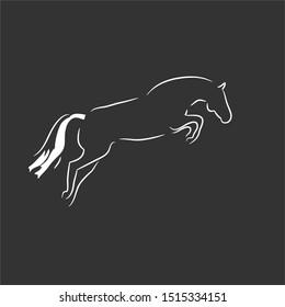 A Jumping Horse Line Art