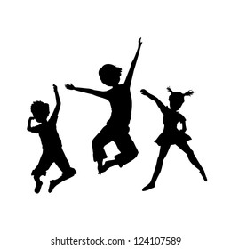 jumping kids background