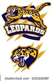 jumping leopard mascot