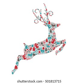 Jumping Reindeer with Christmas Elements