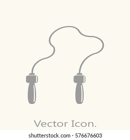 jumping rope icon isolated sign symbol and flat style for app, web and digital design. Vector illustration.