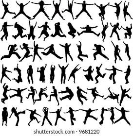 Jumping Shadows, (women , men)