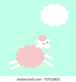 Jumping sheep and a cloud