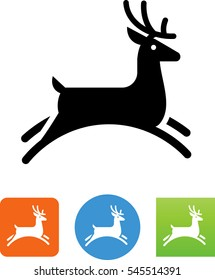Jumping Stag Icon