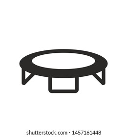 Jumping trampoline icon isolated on white background