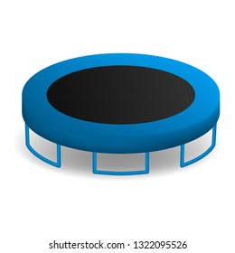 Jumping trampoline icon. Realistic illustration of jumping trampoline vector icon for web design isolated on white background