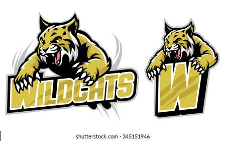 wildcat mascot images stock photos vectors shutterstock rh shutterstock com Kentucky Wildcats Mascot Logo Wildcat Mascot Paw Print