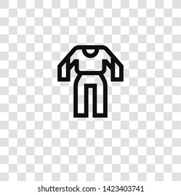 jumpsuit icon from fashion collection for mobile concept and web apps icon. Transparent outline, thin line jumpsuit icon for website design and mobile, app development