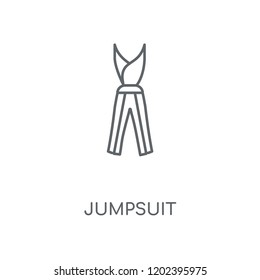 Jumpsuit linear icon. Jumpsuit concept stroke symbol design. Thin graphic elements vector illustration, outline pattern on a white background, eps 10.