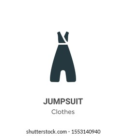 Jumpsuit vector icon on white background. Flat vector jumpsuit icon symbol sign from modern clothes collection for mobile concept and web apps design.