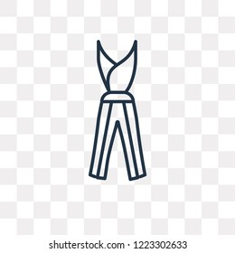 Jumpsuit vector outline icon isolated on transparent background, high quality linear Jumpsuit transparency concept can be used web and mobile