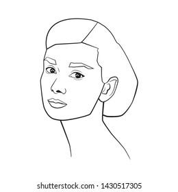 JUN 2019. Vector portrait of Audrey Hepburn