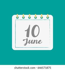 June 10.Calendar icon.