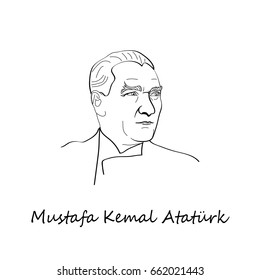 June 18, 2017 - Portrait of Mustafa Kemal Ataturk (1881-1938), founder and first president of the Turkish Republic (1923-1938)