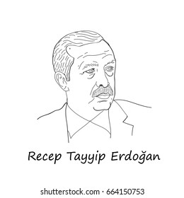 June 21, 2017 - Portrait of Recep Tayyip Erdogan, president of the Turkish Republic from 2014