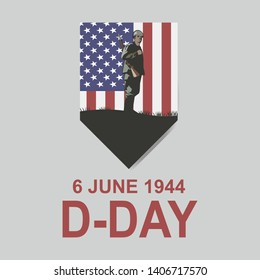 June 6, 1944. D-day vector illustration . Suitable for greeting card, poster and banner