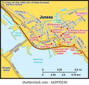 Fairbanks Alaska Area Map Stock Vector 2018 163970156 Shutterstock