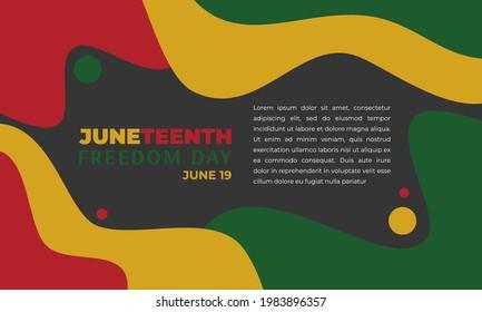Juneteenth Abstract Background Backdrop Wallpaper Vector
