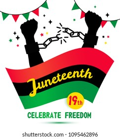 Juneteenth day background celebration of 19 June