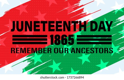 Juneteenth Freedom Day. African-American Independence Day, June 19. Juneteenth Celebrate Black Freedom. T-Shirt, banner, greeting card design.