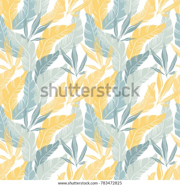 Jungle abstraction. Tropical leaves and plants