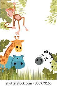 Jungle Animal Border