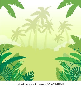 Jungle Flat Background3