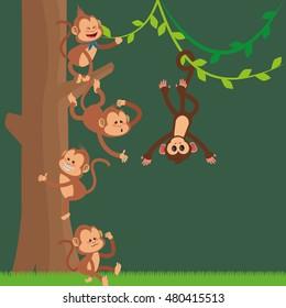 jungle monkeys cartoon
