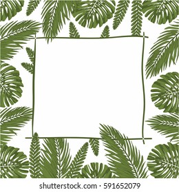 jungle template. palm template. spring. rain forest