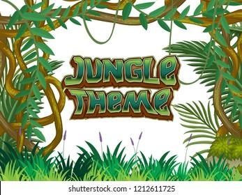Jungle Theme nature scene illustration
