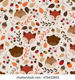 Jungle or Zoo Animal Themed Background Patterns