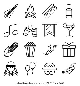 Junina icons pack. Isolated junina symbols collection. Graphic icons element