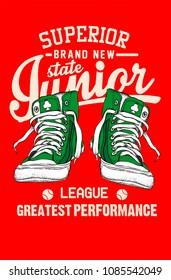 Junior League style vector design for tee print