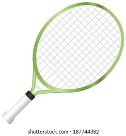 Junior racquet with a short handle. Vector illustration.