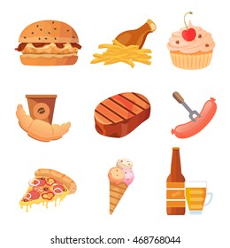 Junk food vector collection